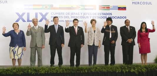 Les dirigeants des pays membres du Mercosur étaient réunis lundi à Asuncion, au Paraguay. Le Venezuela était représenté par sa ministre des affaires étrangères, Delcy Rodriguez.