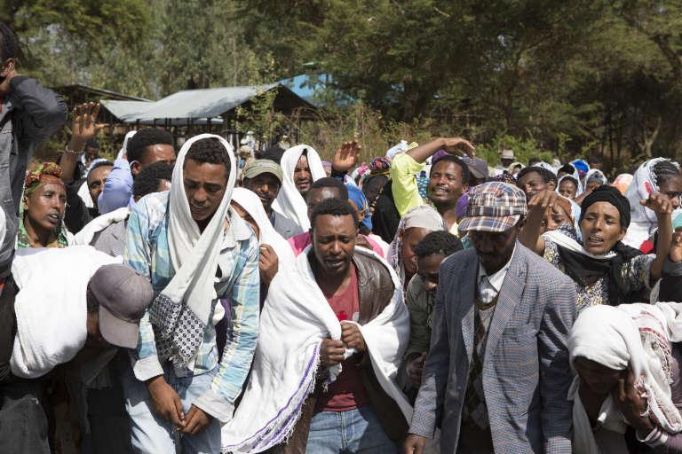 Manifestation après la mort de Dinka Chala, un Oromo tué dans le village de Yubdo, à 100 km d'Addis-Abeba, le 17 décembre.