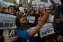 Manifestations le 21 décembre à New Delhi, après la décision de la justice de libérer le plus jeune des auteurs d'un viol collectif sur une étudiante indienne en 2012.