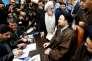 Hassan Khomeyni, petit-fils de l'ayatollah Ruhollah Khomeyni, lors de l'enregistrement de sa candidature à l'Assemblée des experts, à Téhéran, vendredi 18 décembre 2015.