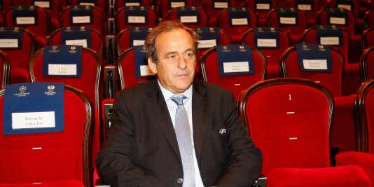 Michel Platini, le 21 décembre, à Monaco.