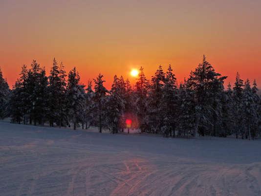 Sur le mont Ÿllastunturi, à Yllas en Finlande.