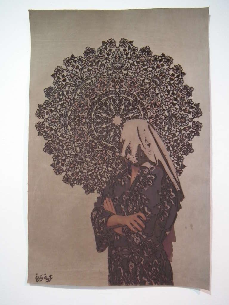 Vue de l'exposition « L'indice d'une suite », au Musée du Bardo de Tunis, en décembre 2015.