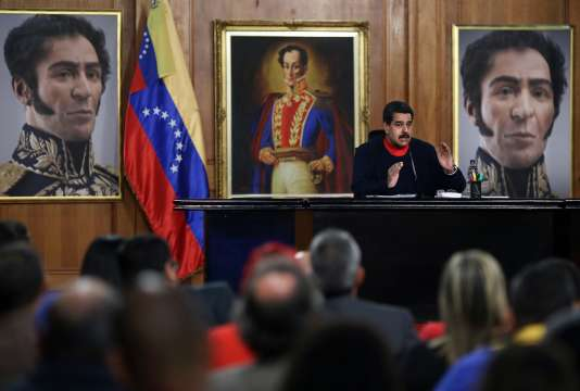 Le président du Venezuela, Nicolas Maduro, lors d'une allocution au palais Miraflores à Caracas, le 21 décembre.
