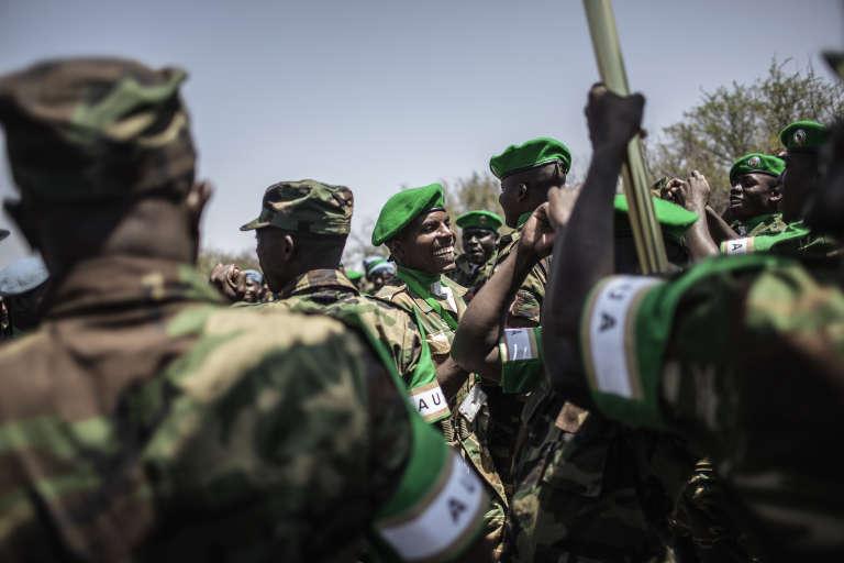 Des soldats de la Force africaine en attente en Afrique du Sud le 19 octobre.