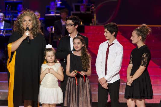 """Marianne James, animatrice de """"Prodiges"""", le concours de jeunes talents, samedi 26 décembre, sur France 2."""