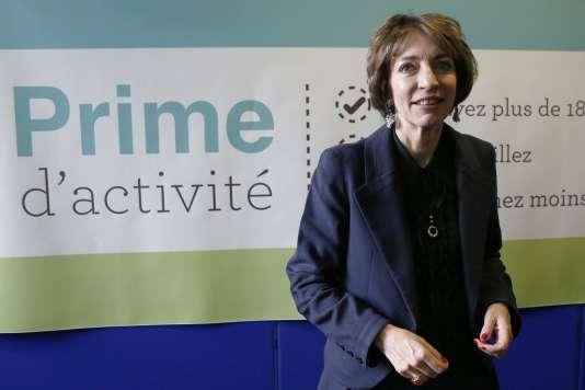 La ministre des affaires sociales Marisol Touraine lors du lancement du simulateur de ligne de la prochaine Prime d'activité, le 22 décembre.