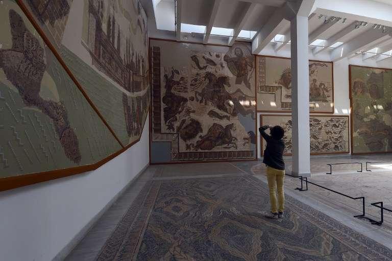 A l'intérieur du Musée du Bardo, à Tunis, en 2015.