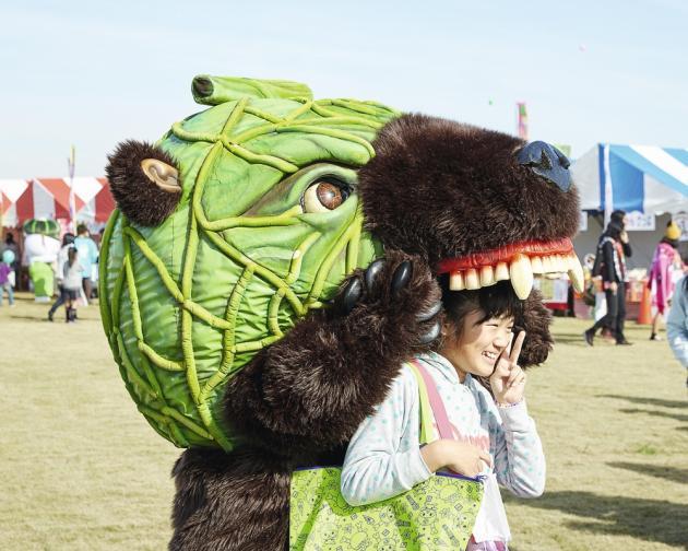 Avec son crâne caractéristique, l'ours Melon Kuma évoque les cultures fruitières de Yubari dont les plantigrades sont friands.