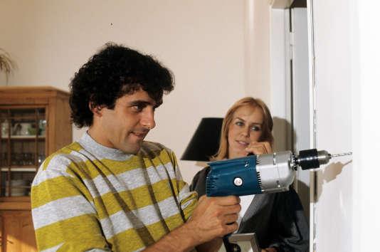 Michel Platini avec sa femme Christèle, en 1982.