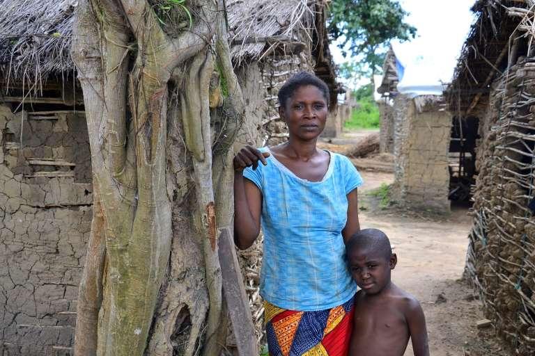 Anna Muganza, bantoue, est déplacée dans le village de Mukondo, dans le sud-est de la RDC, en novembre 2015.