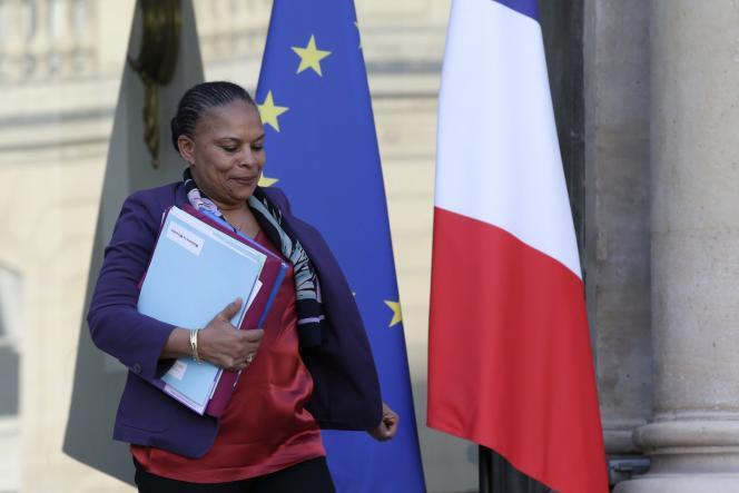 La ministre de la justice Christiane Taubira à l'Elysée le 23 décembre 2015.