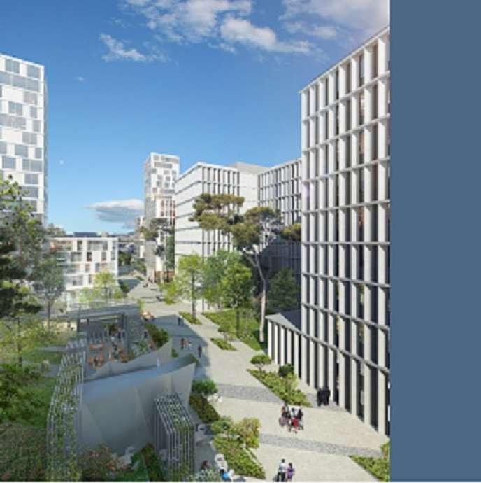 Vue de la future écocité Allar, alias Smartseille, dans les quartiers nord de Marseille.