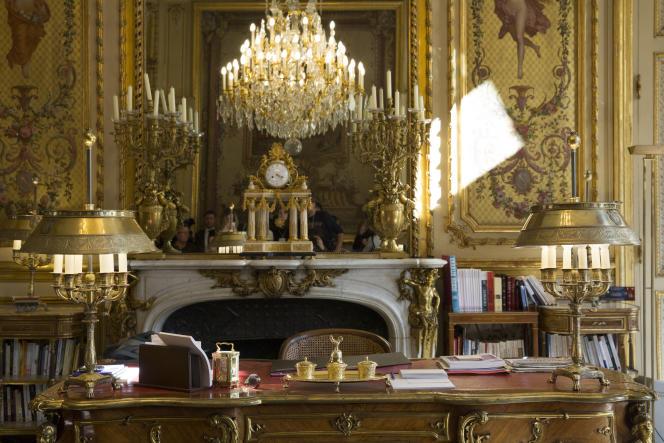 Le bureau du président François Hollande, à l'Elysée.