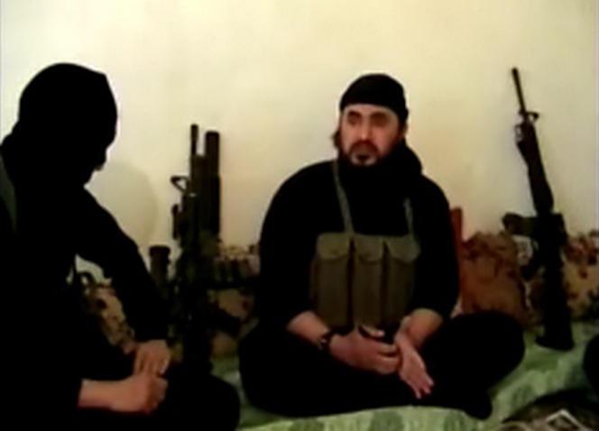 Capture d'écran d'une vidéo non datée publiée par le département américain de la défense en mai 2006, montrant Abou Moussab Al-Zarkaoui en Irak.