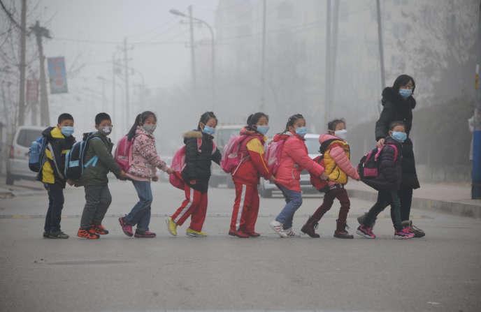 A Jinan, dans la province de Shandong, le 24 décembre.
