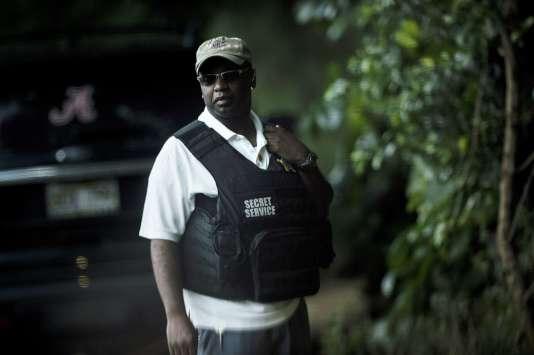 Un membre du Secret Service chargé de la protection de Barack Obama, à Hawaï, le 24 décembre.