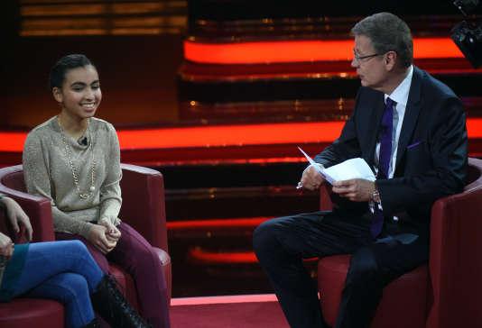 Reem Sahwil à la télévision allemande, le 6 décembre.