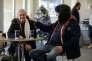 Dans un centre de l'association Crisis at Christmas, accueillant des sans-abri le temps des fêtes, le 23 décembre 2015 à Londres.