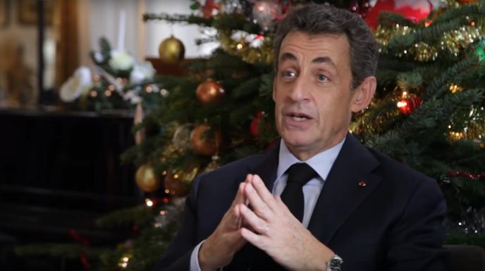Le président des Républicains, Nicolas Sarkozy, adresse ses vœux, le 24 décembre.