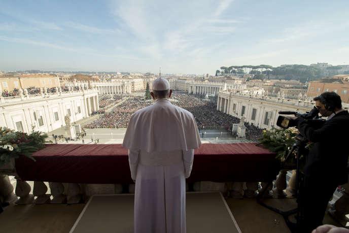Le pape François lors de son traditionnel message de Noël