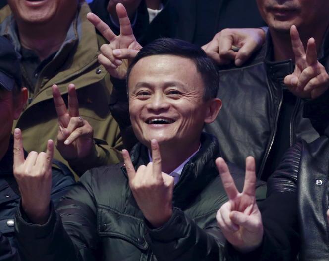 Le fondateur d'Alibaba, Jack Ma, en 2015.