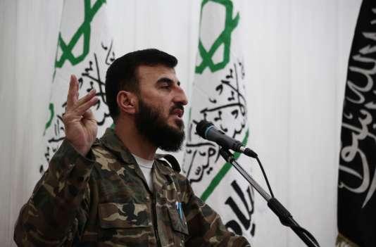 Zahran Allouche, leader de la formation Jaish Al-Islam, en juin 2015.