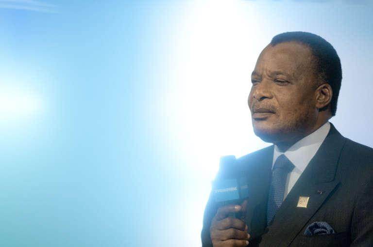 Le président congolais Denis Sassou Nguesso en octobre 2010 à Montreux.