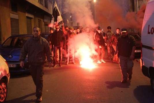 Manifestation à Ajaccio, le samedi 26 décembre.