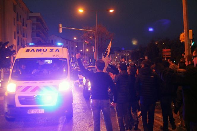 Une manifestation le samedi 26 décembre 2015 à Ajaccio.