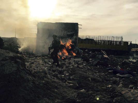 Un soldat de l'armée irakienne dans Ramadi, ville sunnite située à 115 km à l'ouest de Bagdad,  le 27 décembre.