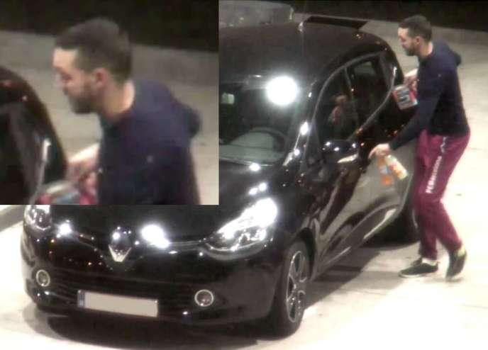 Mohamed Abrini, filmé par une camera de surveillance le 11 novembre dans une station service de l'Oise sur la route de Paris.