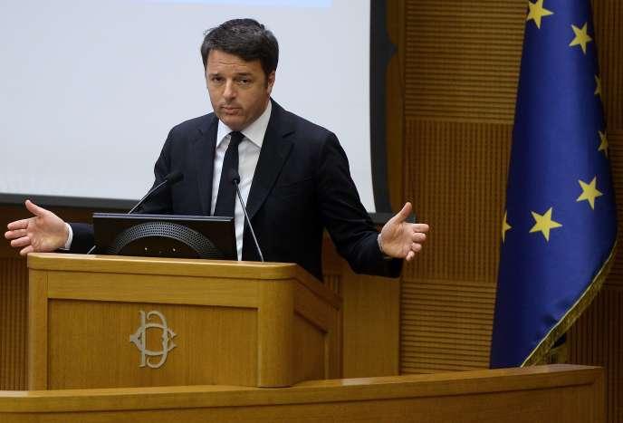 Matteo Renzi, le 29 décembre 2015, à Rome.