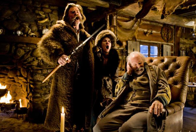 Bruce Dern, Jennifer Jason Leigh et Kurt Russell dans «Les Huit Salopards», de Quentin Tarantino.