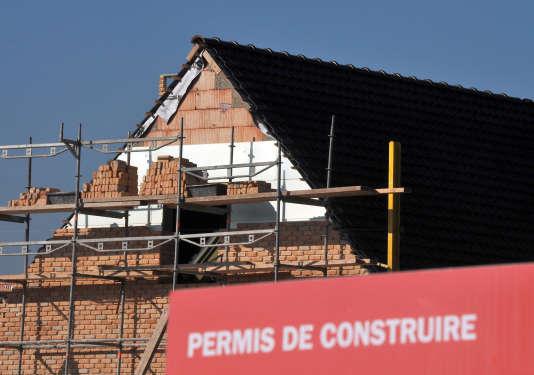Construction d'une maison individuelle dans le nord de la France.
