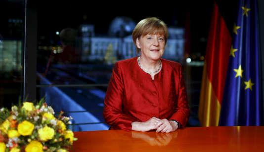 Les vœux de la chancelière Angela Merkel seront diffusés le 31décembre au soir.