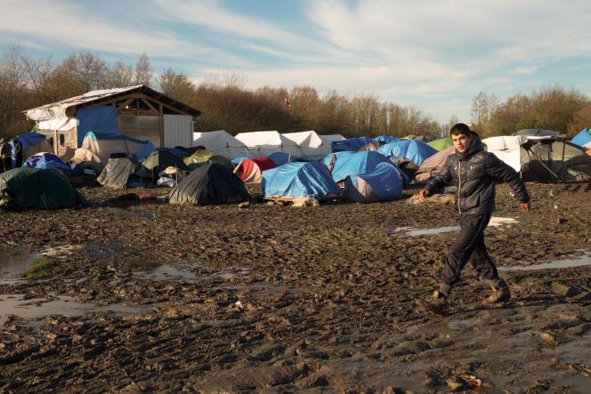 Le camp de Grande-Synthe, près de Dunkerque, le 28 décembre.