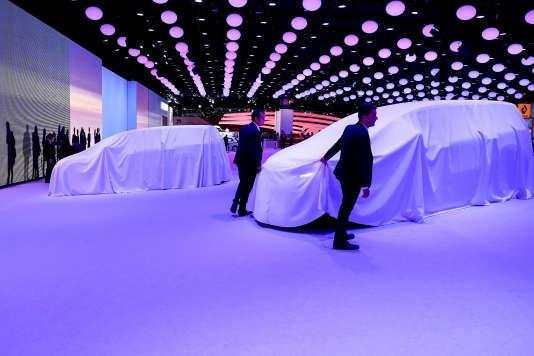 L'année 2016 verra Paris accueillir le Mondial de l'Automobile (ici, le stand de Renault lors de l'édition 2014 du Salon mondial de l'auto, à Paris).