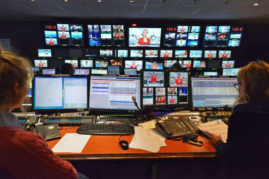 La régie de LCI, qui doit bientôt passer en clair comme nouvelle chaîne info de la TNT.