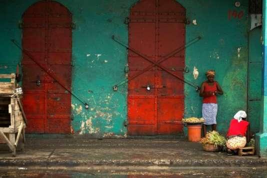 Dans une rue de Port-au-Prince, à Haïti.