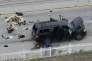 Le véhicule utilisé par deux terroristes islamistes dans la fusillade de San Bernardino (Californie), le 2 décembre 2015.