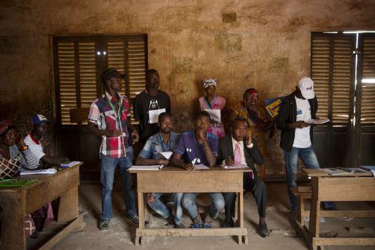 Le bureau de vote de l'école Koudoukou, à Bangui, mercredi 30décembre