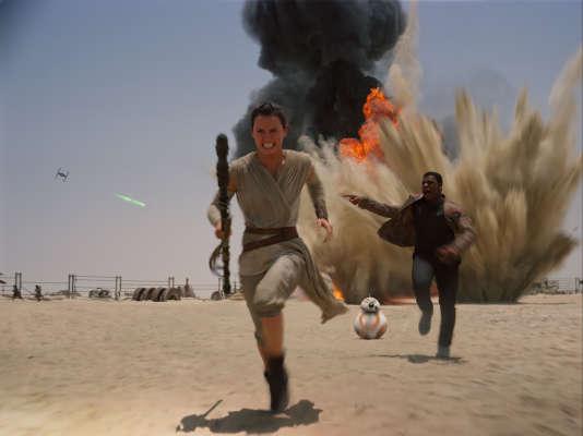 Rey, jouée par Daisey Ridley, dans le septième épisode de la saga Star Wars.