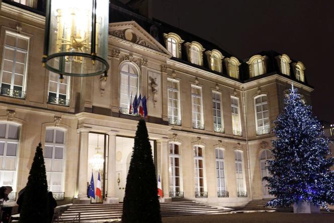 Le Palais de l'Elysée à Paris le 15 décembre 2015.