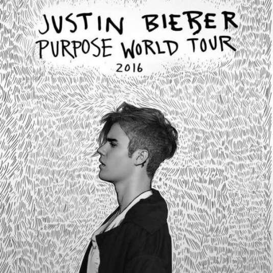 Le visuel de la tournée Purpose World Tour 2016 du chanteur canadien Justin Bieber.