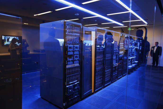 Dans un data center, à Palo Alto (Californie)