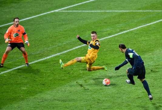 Zlatan Ibrahimovic est l'auteur du seul but du match face aux amateurs de Wasquehal.