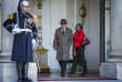 Christiane Taubira et Bernard Cazeneuve sortent du premier conseil des ministres de l'année, lundi 4 janvier.