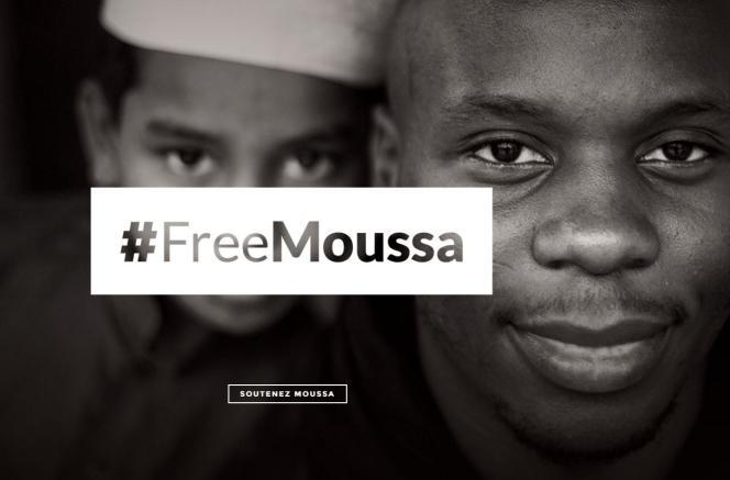 Capture d'écran du site de l'ONG Baraka City, réclamant la libération de Moussa Ibn Yacoub.