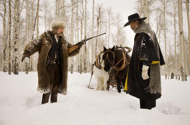 Kurt Russell et Samuel L. Jackson dans le film américain de Quentin Tarantino,